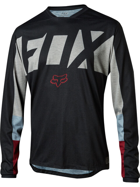 Fox Indicator Drafter Long Sleeve Jersey Men black